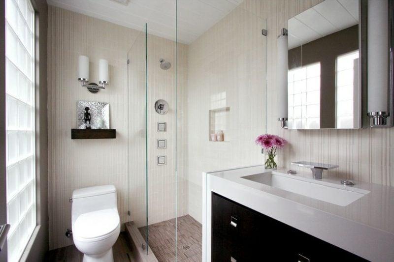 Gäste WC Gestaltung Beispiele minimalistischer Stil