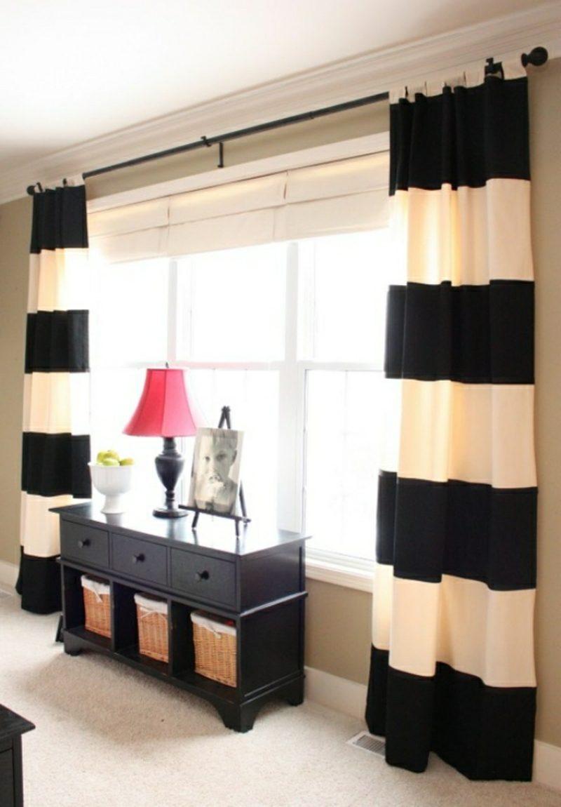 Gardinen Wohnzimmer tolle Streifen