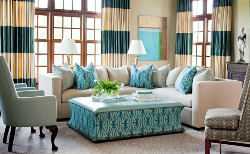 Gardinen Wohnzimmer: tolle Ideen für verschiedene Einrichtungsstile