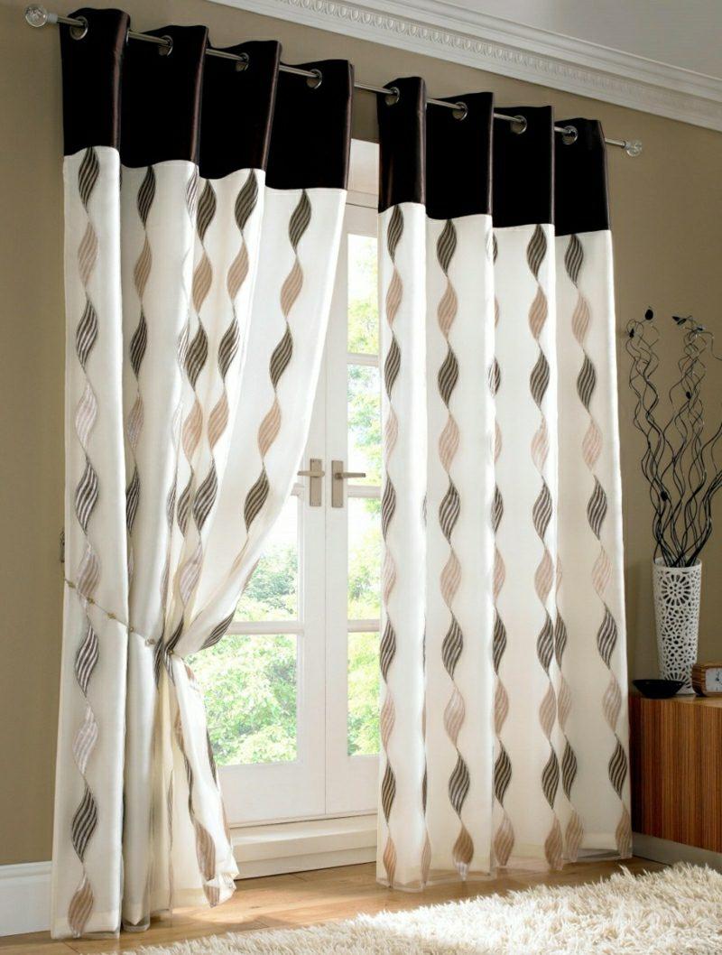 Gardinen Wohnzimmer geometrische Muster