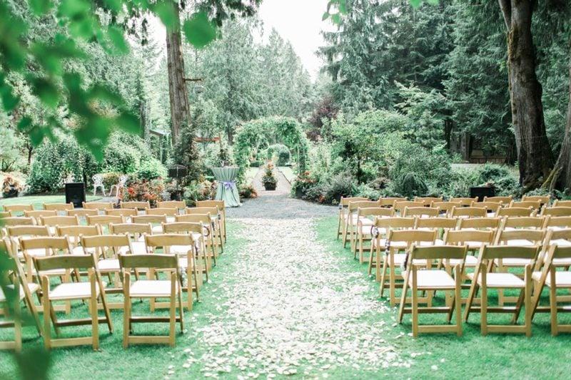 Hochzeit im Garten feiern Platzbadarf