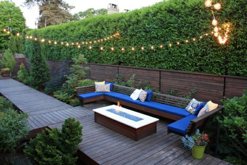Gartengestaltung modern Sitzecke im Freien