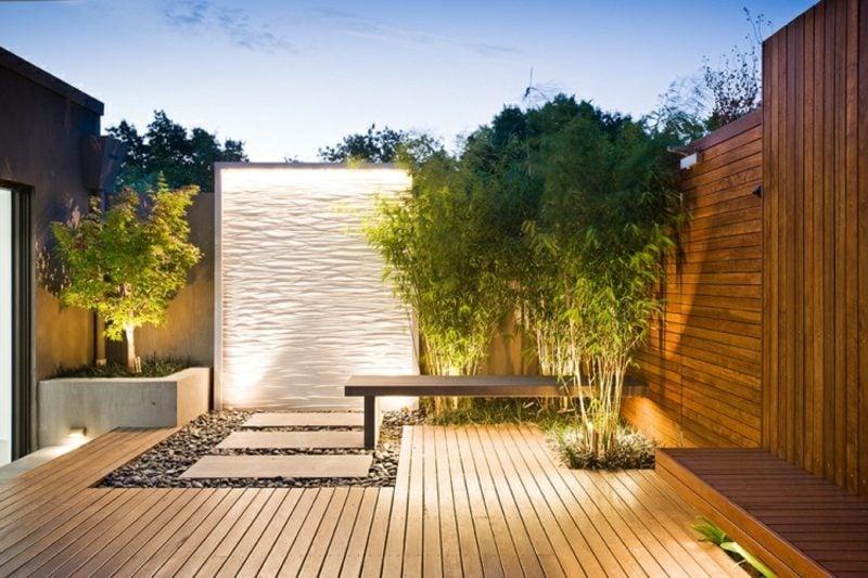 Gartengestaltung modern Akzentbeleuchtung