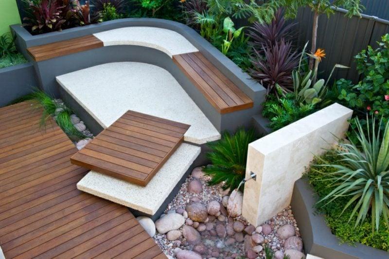 Gartengestaltung modern Vielfalt an Materialien