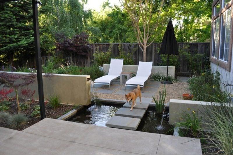 Gartengestaltung Modern Wasserspiele