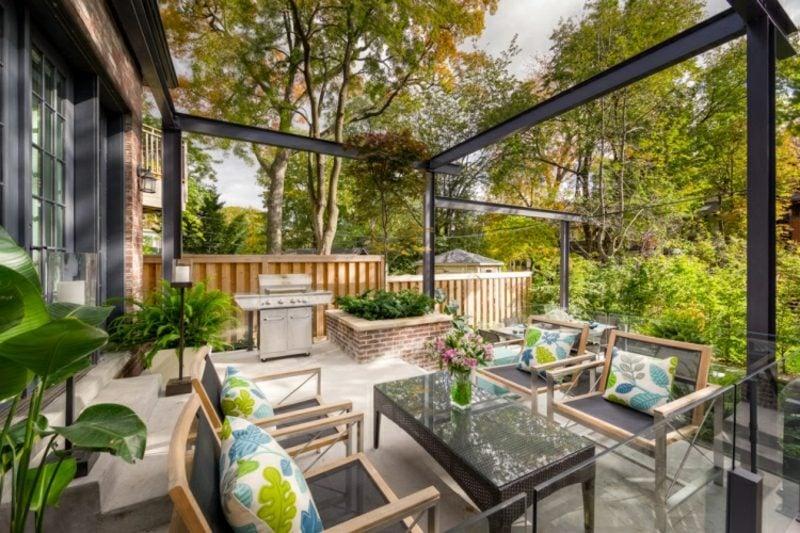 Gartengestaltung modern Sitzecke gemütlich