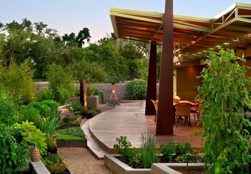 Gartengestaltung modern Sitzecke anrichten Terrasse