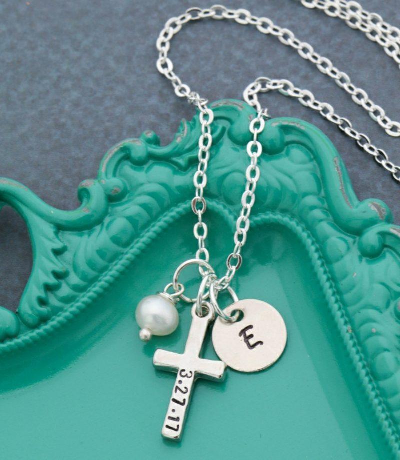 Geschenke zur Taufe Halskette Kreuz