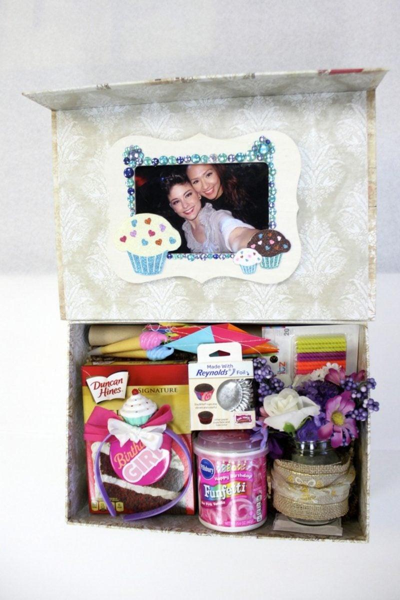 Geschenkideen beste Freundin selber machen einzigartige Überraschungsbox