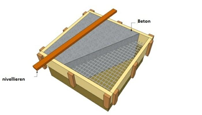 Grill selber bauen Beton-Fundament giessen