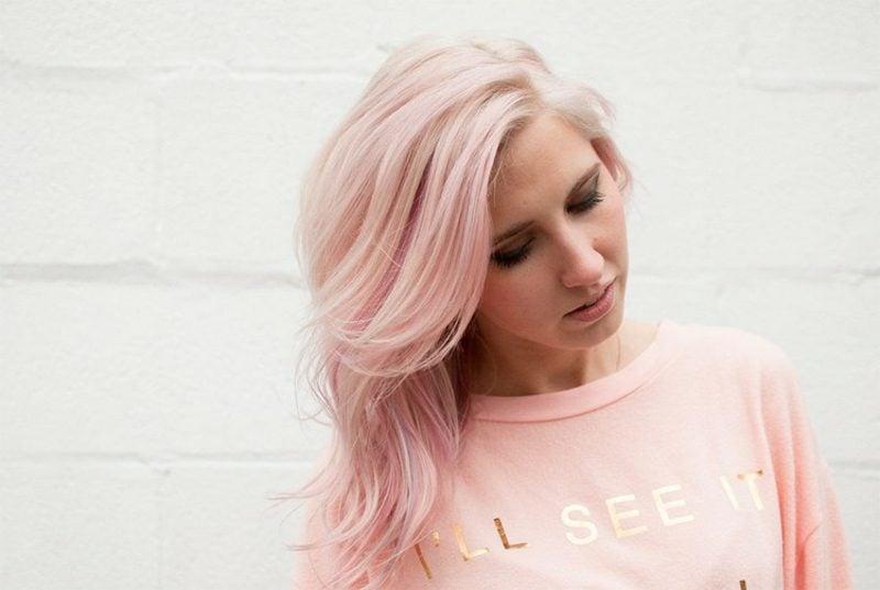pastellrosa Haare färben hilfreiche Tipps