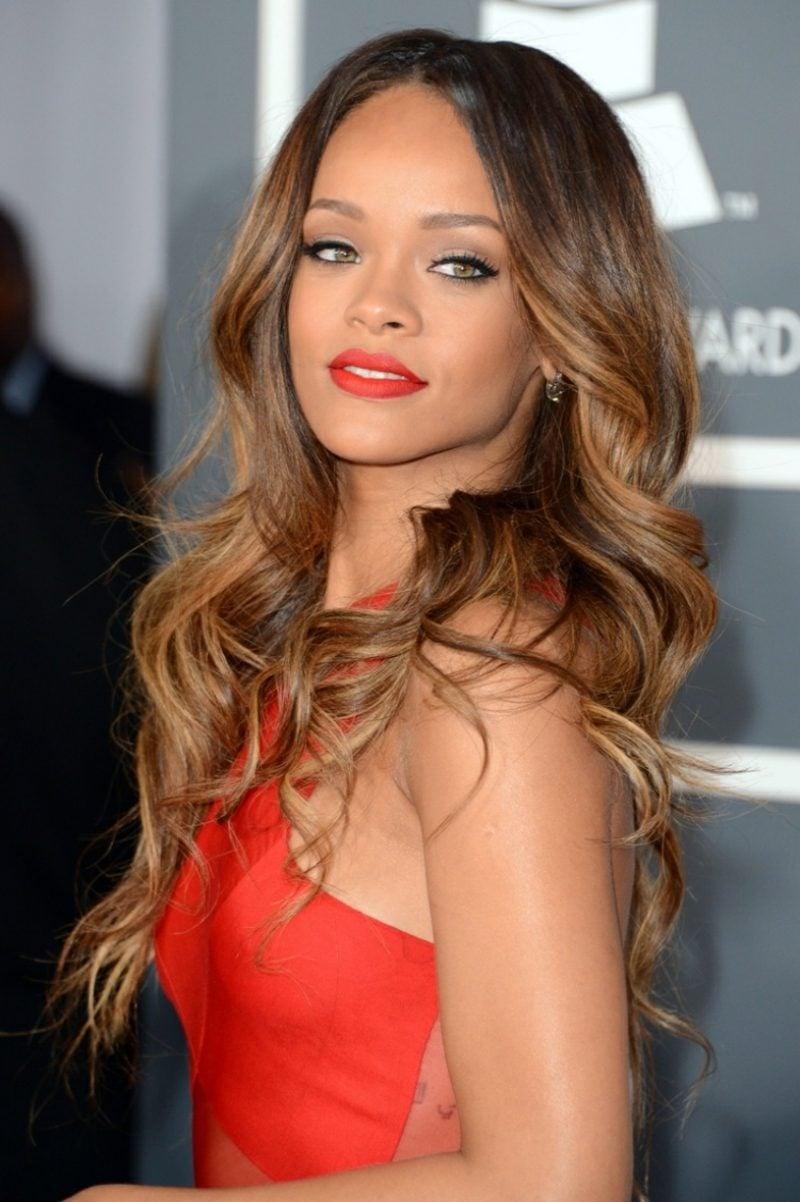 Haarfarbe Caramel Blond Rihanna