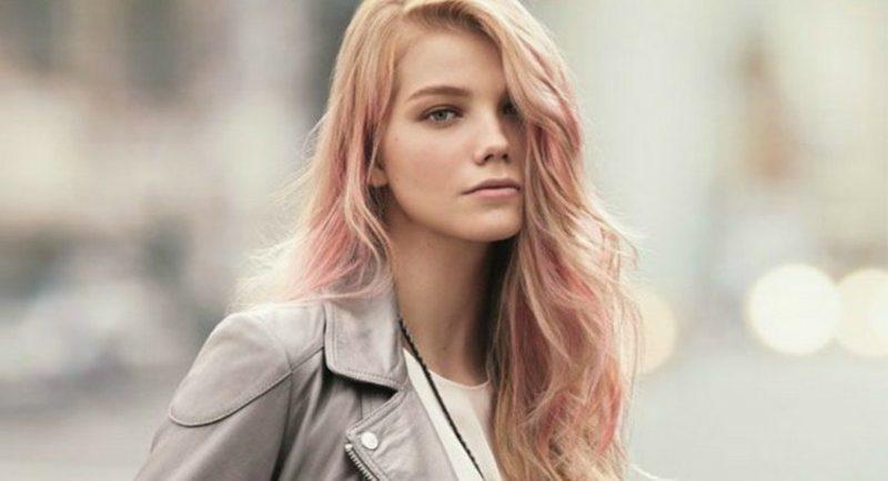 pastellrosa Haare färben angesagt Sommer 2018
