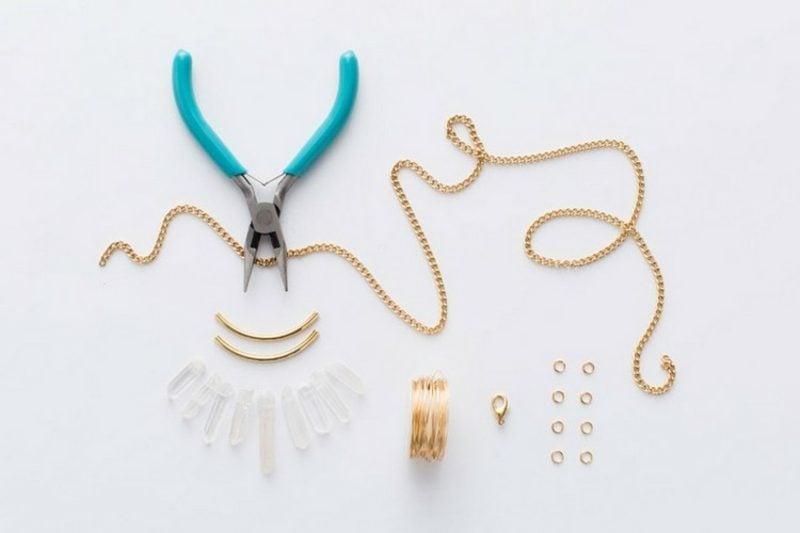 Geschenkideen beste Freundin selber machen Halskette DIY Materialien