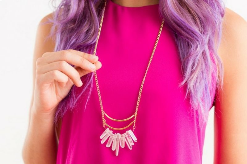 Geschenkideen beste Freundin selber machen eindrucksvolle Halskette