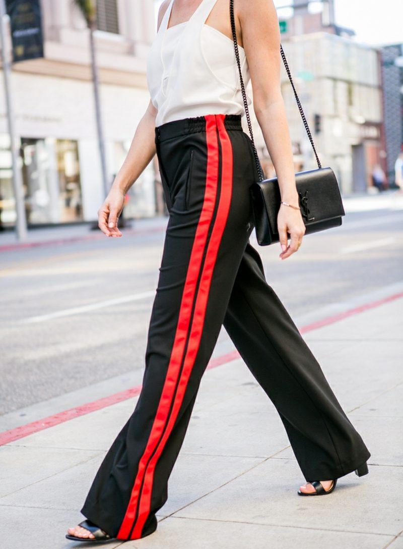 weite Damenhosen rote Kanten