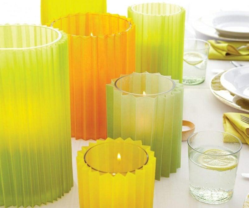 Bastelideen für Erwachsene Sommer Kerzen dekorieren