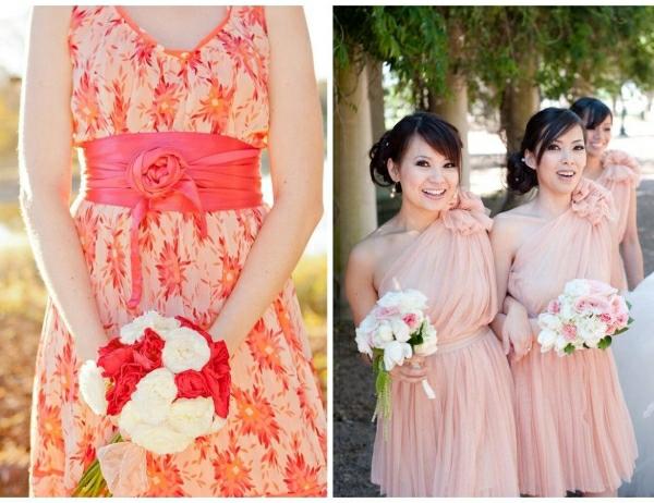 Kleider für Hochzeitsgäste zarte Nuancen farbige Prints