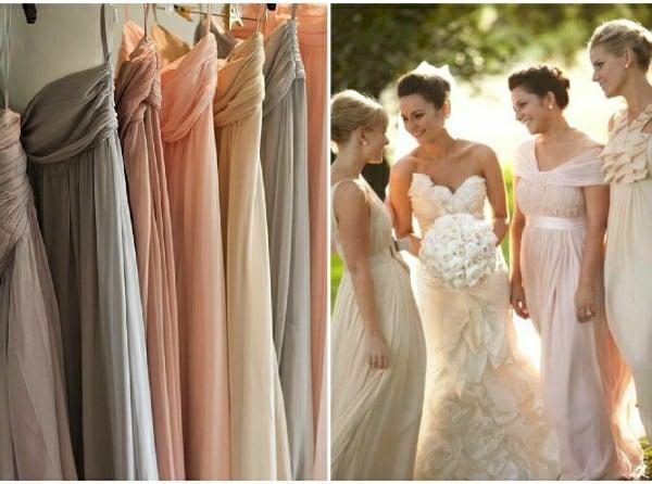 Kleider für Hochzeitsgäste zarte farben