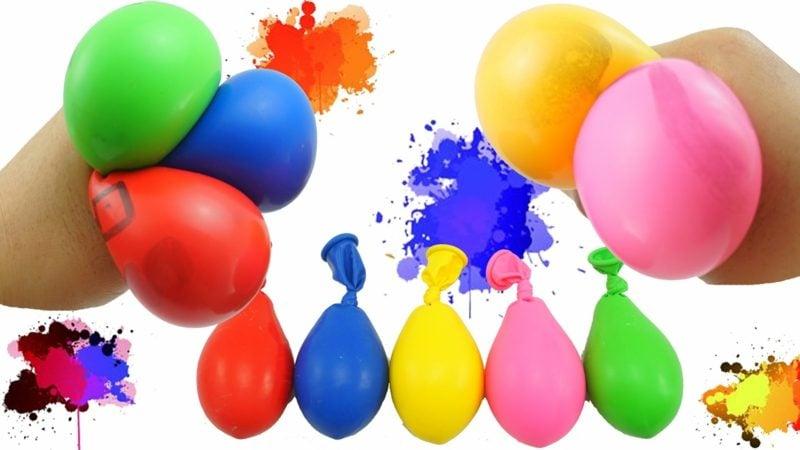 Antistressball selber machen Idee mit Luftballons