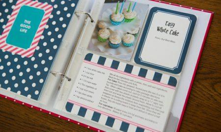 Kochbuch selbst gestalten mit Folie und Ordner