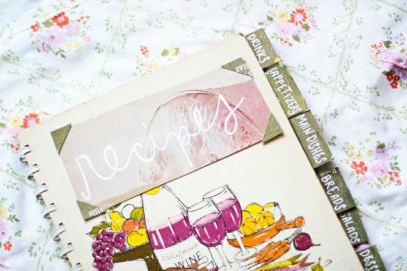 Kochbuch selbst gestalten Ringheft Titelseite