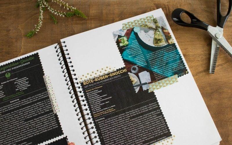 Kochbuch selbst gestalten Collage Ringheft