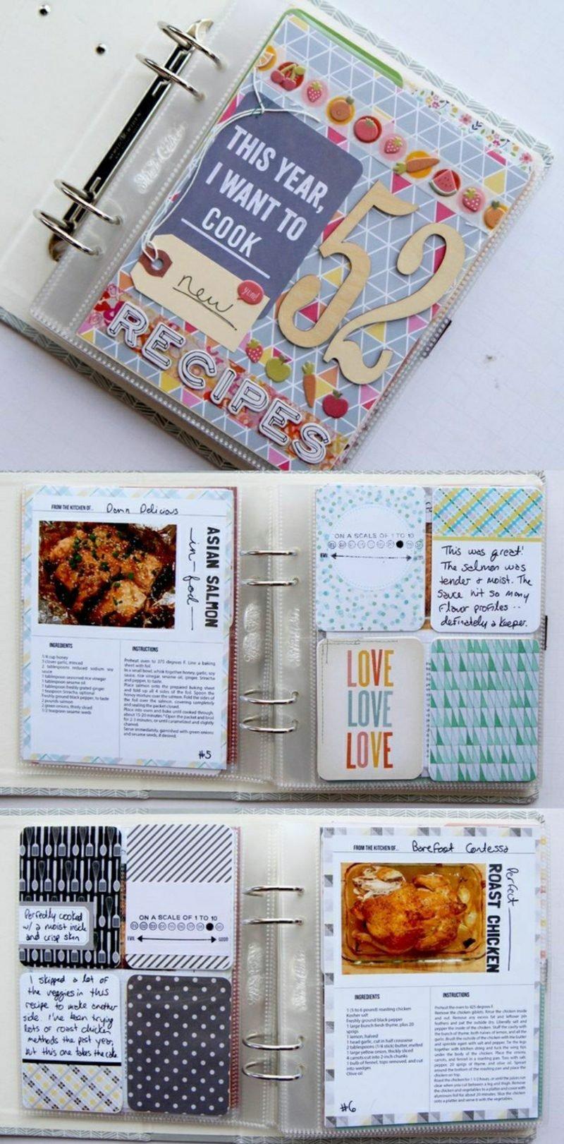 Kochbuch selbst gestalten eindrucksvolle Idee