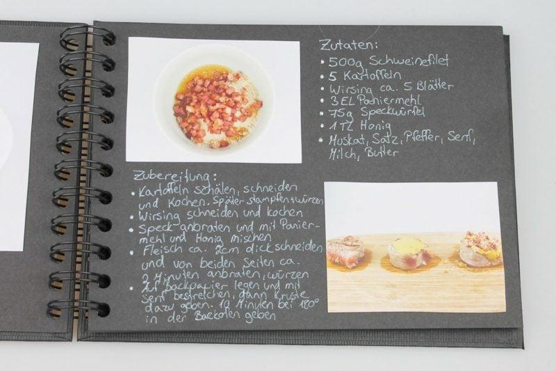 Kochbuch selbst gestalten und mit Fotos dekorieren