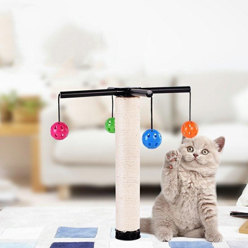 Katzenspielzeug selber machen Kratzbaum originelle Idee