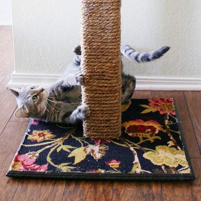 Katzenspielzeug selber machen DIY Kratzbaum