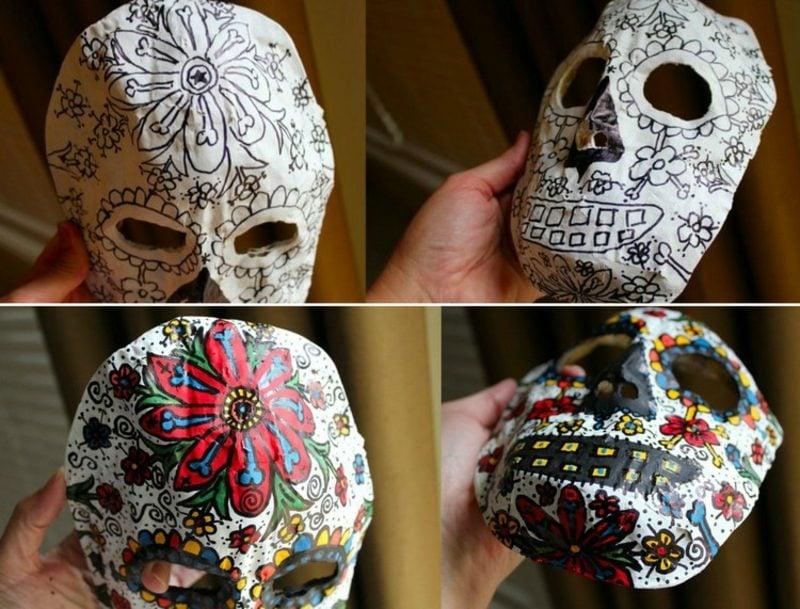 Pappmache selber machen Masken basteln und dekorieren