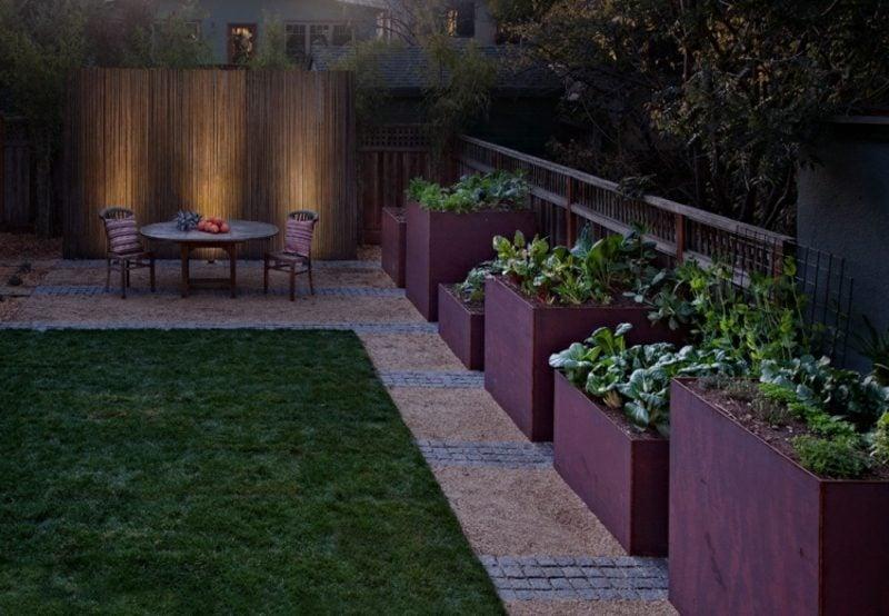 Gartengestaltung modern essbare Pflanzen anbauen
