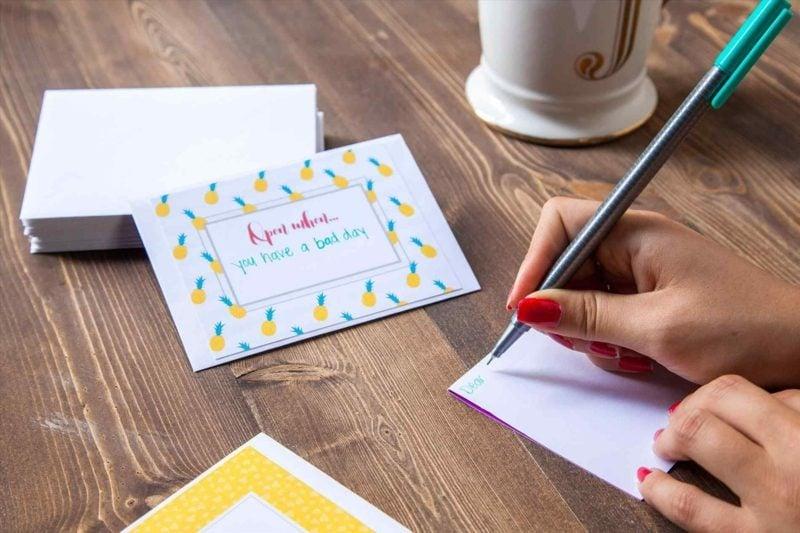 Geburtstagsgeschenk beste Freundin Open when Briefe schreiben