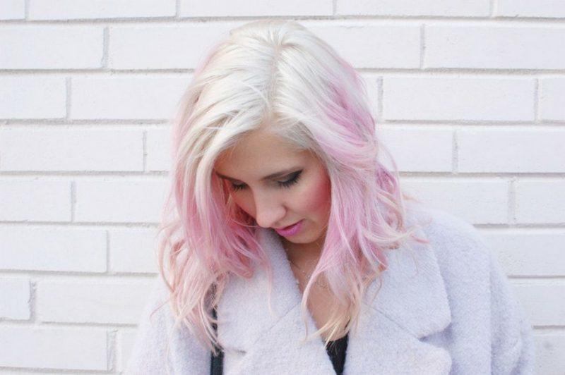 pastellrosa Haare färben Anleitung