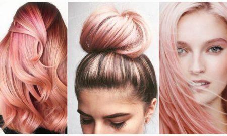 pastellrosa Haare färben Frisurentrends 2018