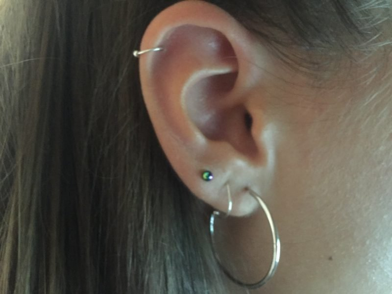 Helix Piercing dezent kleiner Ring