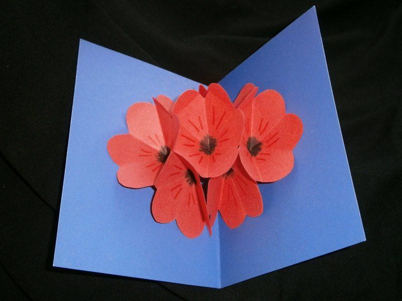 Geburtstagsgeschenk beste Freundin Pop up Karte basteln