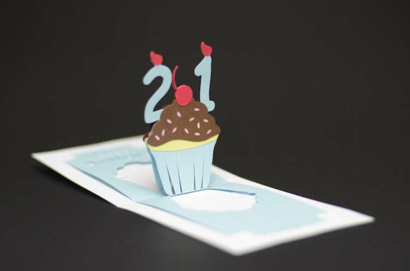 Lustige Gebutstagskaten basteln tolle Pop up Karte selber machen