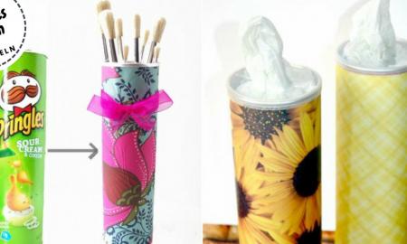 Pringles Dosen basteln DIY Ideen zum Selbermachen