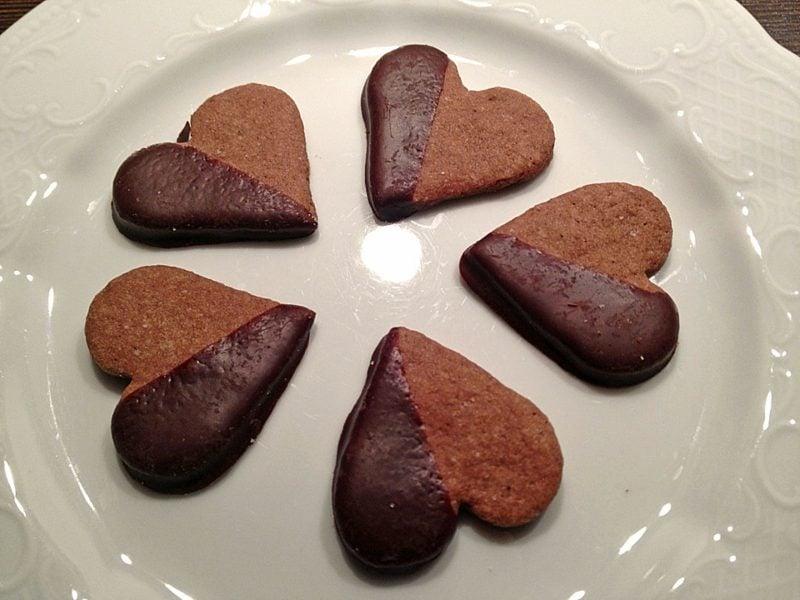 Backen mit Kindern Orangenherzen mit Schokolade