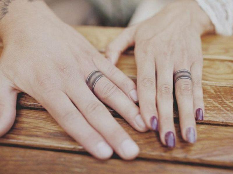 romantische Ehering Tattoo Motive