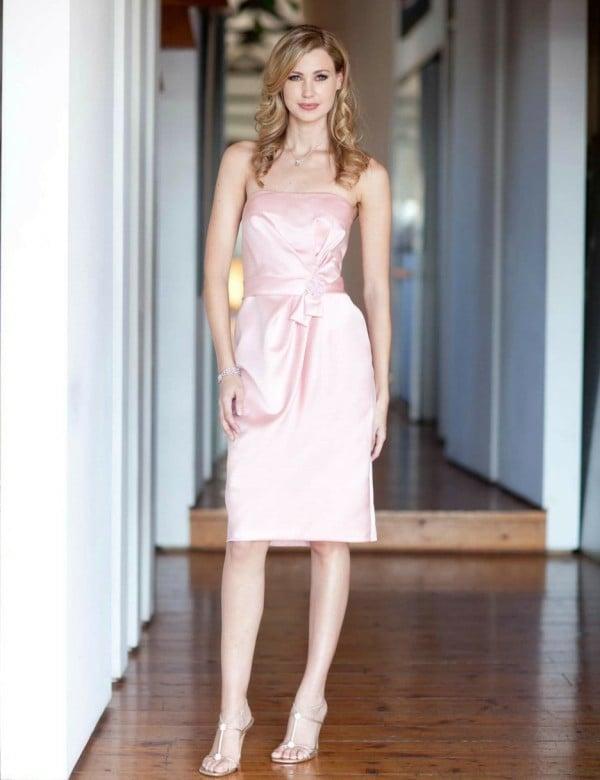 Kleider für Hochzeitsgäste Satinkleid kurz