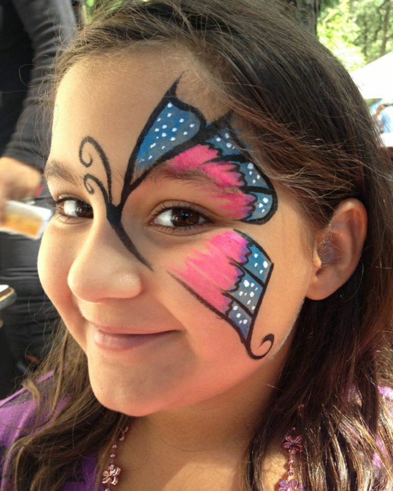 Halloween Kinderschminken Schmetterling Mädchen