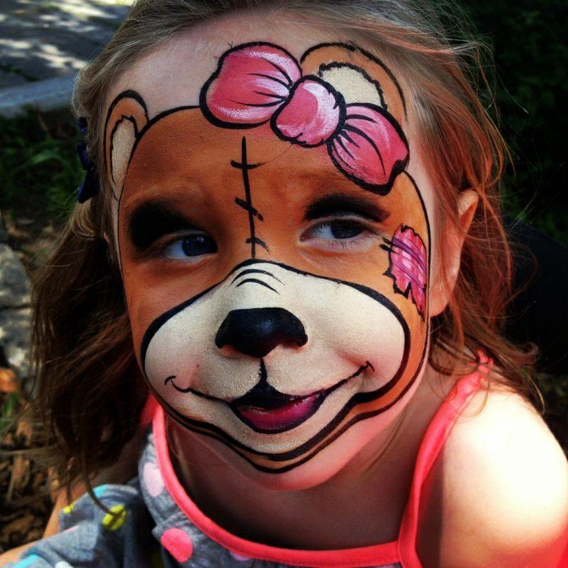 Halloween Kinderschminken Bär