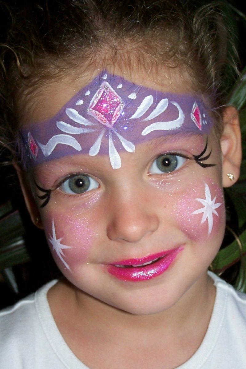 Halloween Kinderschminken Prinzessin