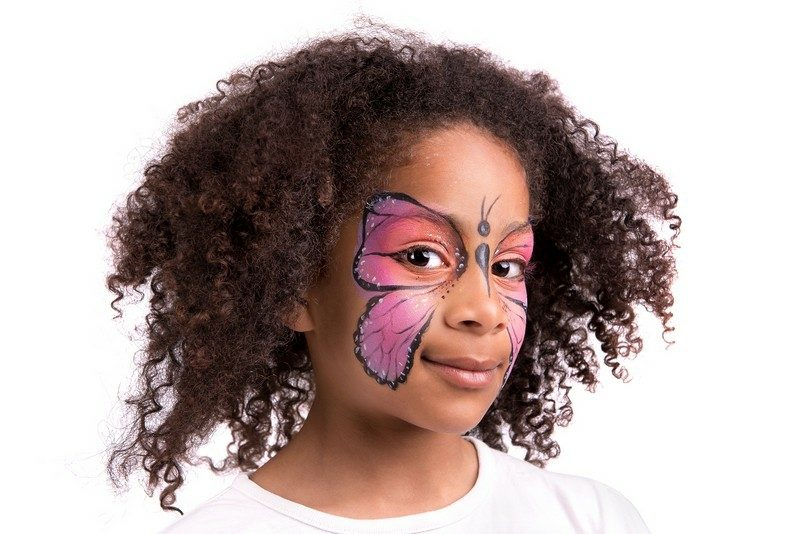 Halloween Kinderschminken Schmetterling Make up