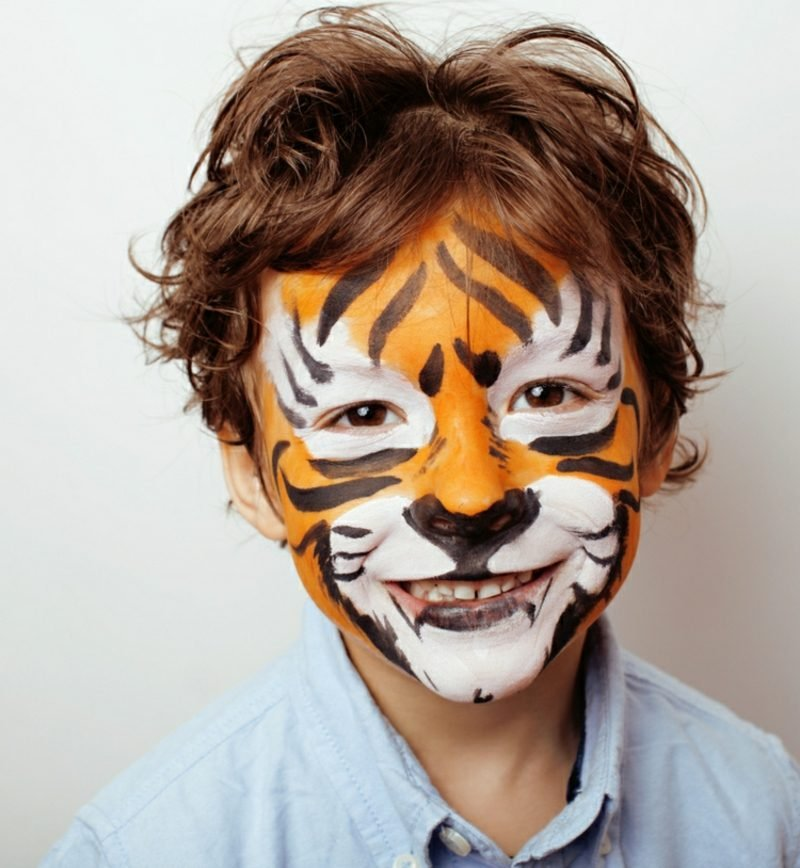 Halloween Kinderschminken Tiger