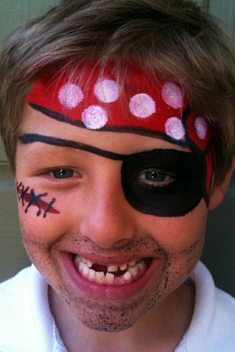Halloween Kinderschminken Pirat