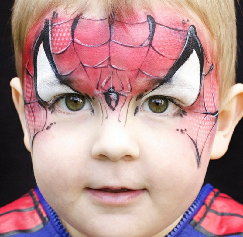 Halloween Kinderschminken Spiderman